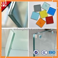 colored laminated glass with ISO BV CE certificate clear laminated glass