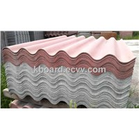 corrugated fiber cement roof tile