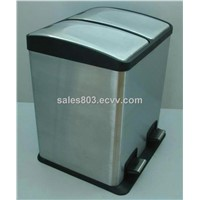 2-Compartment Pedal Bin 2-compartment trash can with pedal