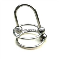 Stainless steel DOUBLE Rings BEAD SOUNDING: Male Urethral Dilatator CD-0006