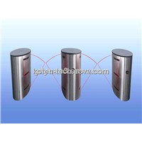 Transparent Flap Barrier Turnstile Gate for Entrance/Exit Control