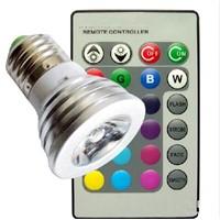 110V 240V 16 Colors changing RGB LED Lamp 3W E27 RGB LED Spotlight Lamp Spotlight with Remote