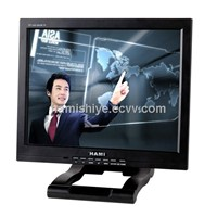 15 inch touch screen lcd monitor with PC input and AV input