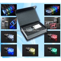2014 Fashion LED Light Crystal USB Flash Memory Pendrive
