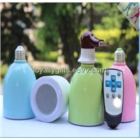 2014 New arrival! Wireless Bluetooth Speaker with LED Light Bulb With RF Remote Control