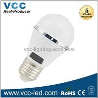 3W led bulb white plastic housing