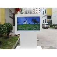46 inch double sides floor standing LCD advertising kiosk