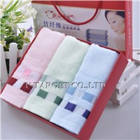 70% Bamboo fiber+30% cotton 32x76cm Solid Soft Home Towel Washcloth Gift Box