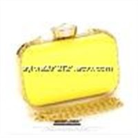 Beautiful quality cluthes with long chains Colorful hardcase clutch bags with diamonds decoration