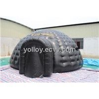 Black Tarpaulin Tent Double Layer Mobile Inflatable Tent
