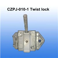 Cargo container trailer twist lock