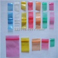 Colorful plastic ziplock bag with write space
