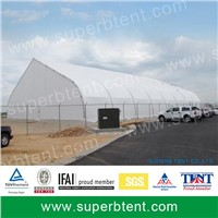 Curve Tent for cover the swim pool by Superb Tent