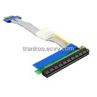 Enhanced PCIE 1x To 1x 16x Riser Card with Molex for bitcoin and litecoin minine