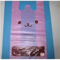 HDPE plastic T-Shirt Bags with printing
