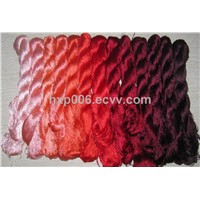 Hand-dyed natural mulberry silk yarn embroidery floss threads