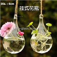 Creative Water Drop Shaped Glass Terrarium Hanging Glass Vase Home Decoration Party Supplies