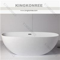 Kingkonree acrylic solid surface bathtub price/1700mm free standing bathtub KKR-B008
