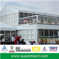 Luxury Double decker tent with glass wall