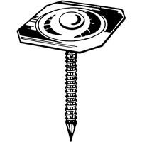 Metal Square Cap Ring Shank Nail/Metal Square Cap Nail/ Metal Cap Roofing Nail/Cap Nail
