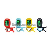 Mini clip on chromatic tuner for guitar, bass, violin, ukulele