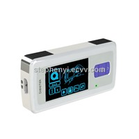 New portable ambulatory ECG device for effective cardiac monitoring ECG recorder with color screen