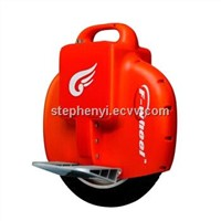 Original F-wheel Q1 orange color electric unicycle self balancing electric scooter Max.load 80KGs