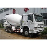 Concrete Mixer Trucks Sinotruk HOWO 6x4 in White  8 Cubic Meters with EuroIII standard