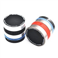 Rechargeable Mini Bluetooth Stereo Speakers, Super Bass Camera Lens, Support USB/SD/Microphone