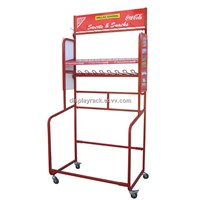 Refrigerator Display Rack /Grocery Store Display Rack/Powder Coated Display Rack