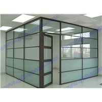 Room dividers,glass wall,aluminium profile with glass to divide the space