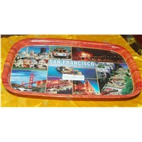 Room service tray for restaurant,Tinplate oblong fruit plate,Metal containing iron plate/tray