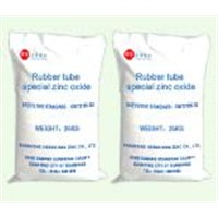 Rubber tube special zinc oxide
