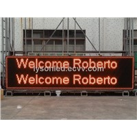 Semi Outdoor Single Color P10 LED Display Message Sign Board