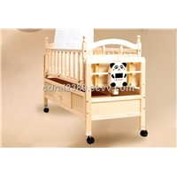 Solid Wood Automatic Swing Baby Crib