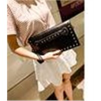 Supply Best quality nice pu rivet clutch bag new designer wonderful women shoulder clutch bags