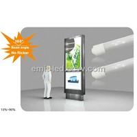T8 360 degree beam angle led tube for advertising box bus station