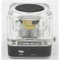 TT028 Mini Portable Speaker Micro SD/TF Music MP3 Player USB Disk FM Radio Blue
