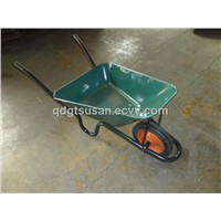 Wheel Barrow with Solid Wheel, Steel Painted Tray
