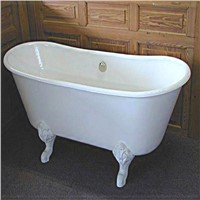 big freestanding cast iron bathtub