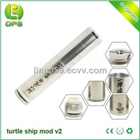 brass and stainless steel Turtle Ship V2 mechanical mod