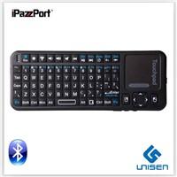 cheap ! iPazzPort mini wireless bluetooth silicone keyboard smart TV  keyboard