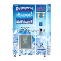 commericial use ice vending machine coin operated combo ice making vending machine