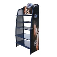 e liquid display rack, metal lubricating oil display rack, exhibition stand
