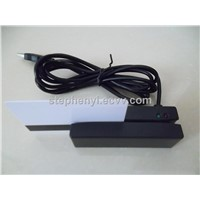 high quality 90mm mini USB magnetic card reader triple tracks