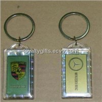 hot sale acrylic solar powered key ring