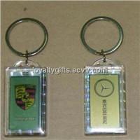 hot sale acrylic solar powered key ring