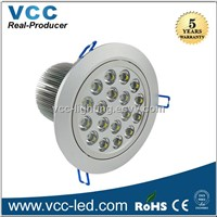 hot selling 18w led downlight, 1800lm recessed down light