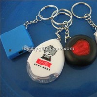 hot selling electric whistle Key finder with keychain and LED torch--white paper box