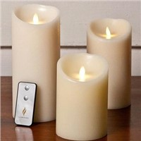 ivory outdoor flameless luminara candle
